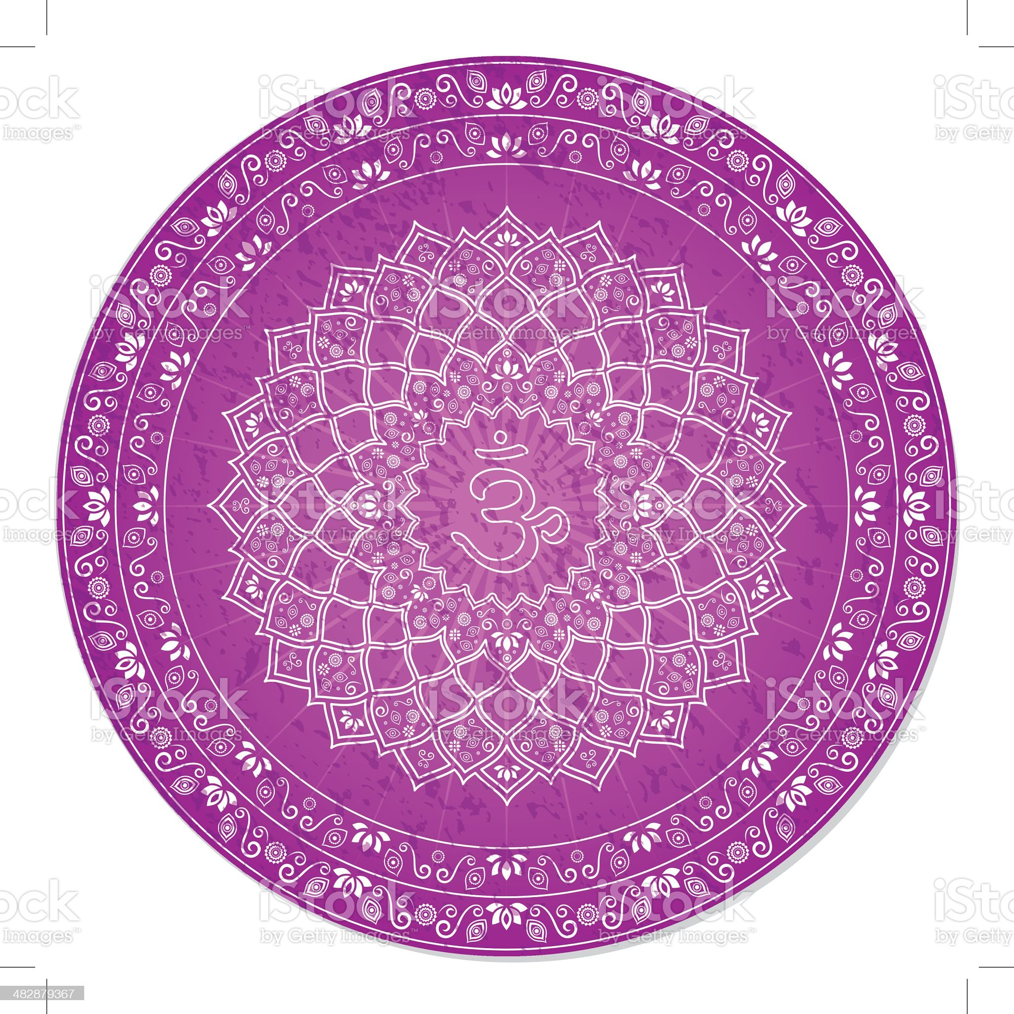 Seventh Chakra Decorative royalty-free stock vector art
