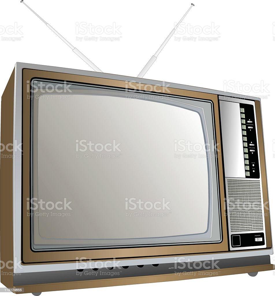 Seventies TV Set royalty-free stock vector art
