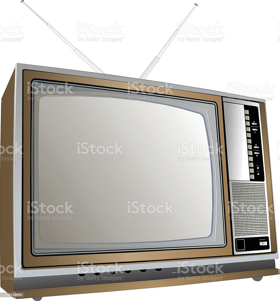 Seventies TV Set vector art illustration