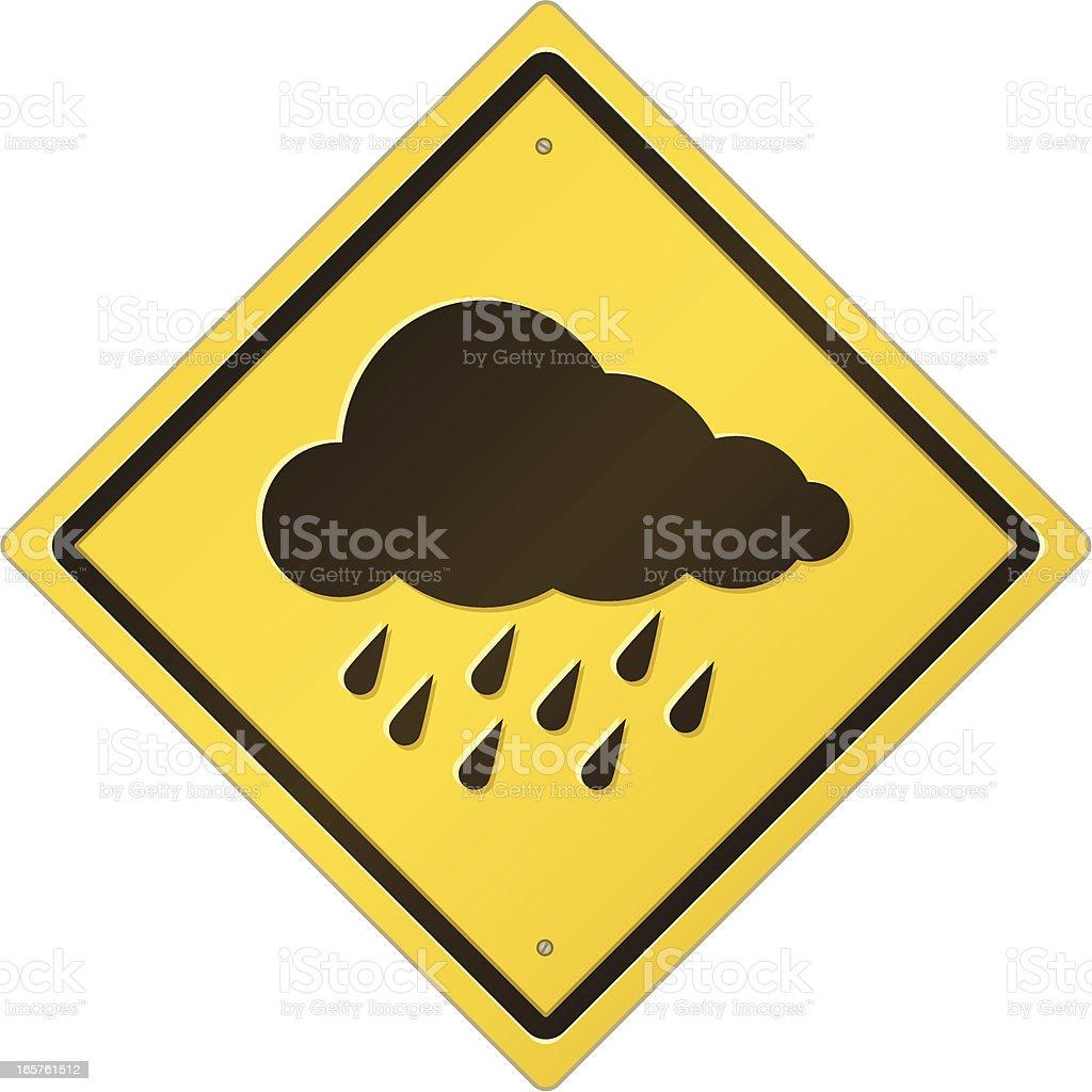 Severe Storm Warning Sign royalty-free stock vector art