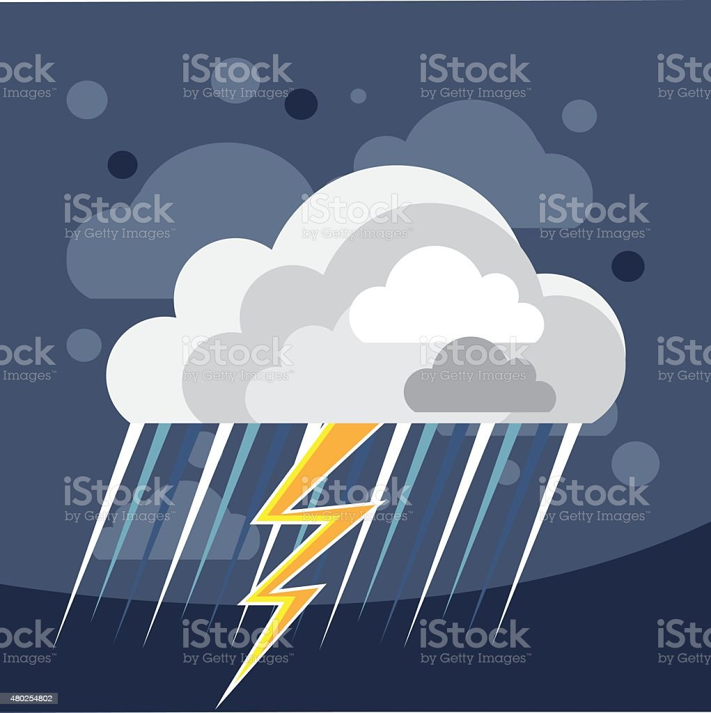 Severe Weather Storm Icon vector art illustration