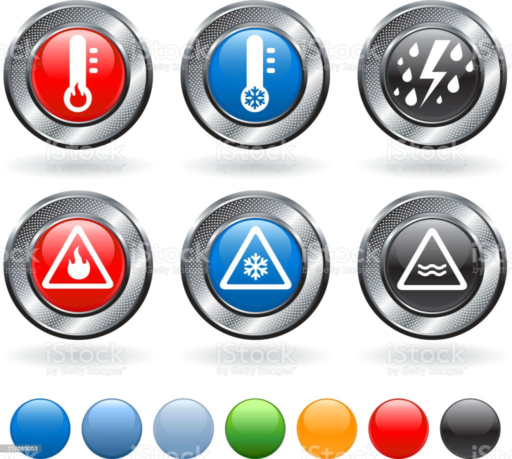 severe weather warning royalty free vector icon set vector art illustration