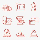Sewing and needlework icon