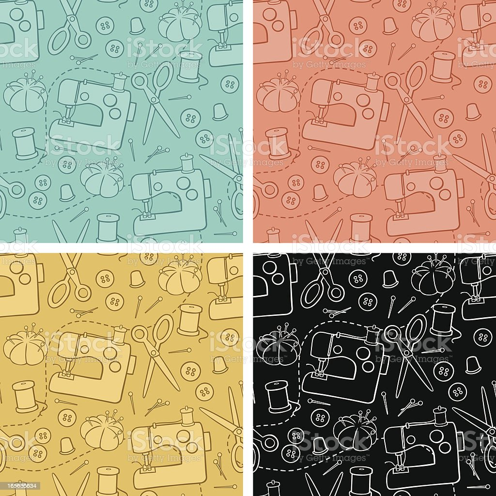 Sewing Background Pattern royalty-free stock vector art