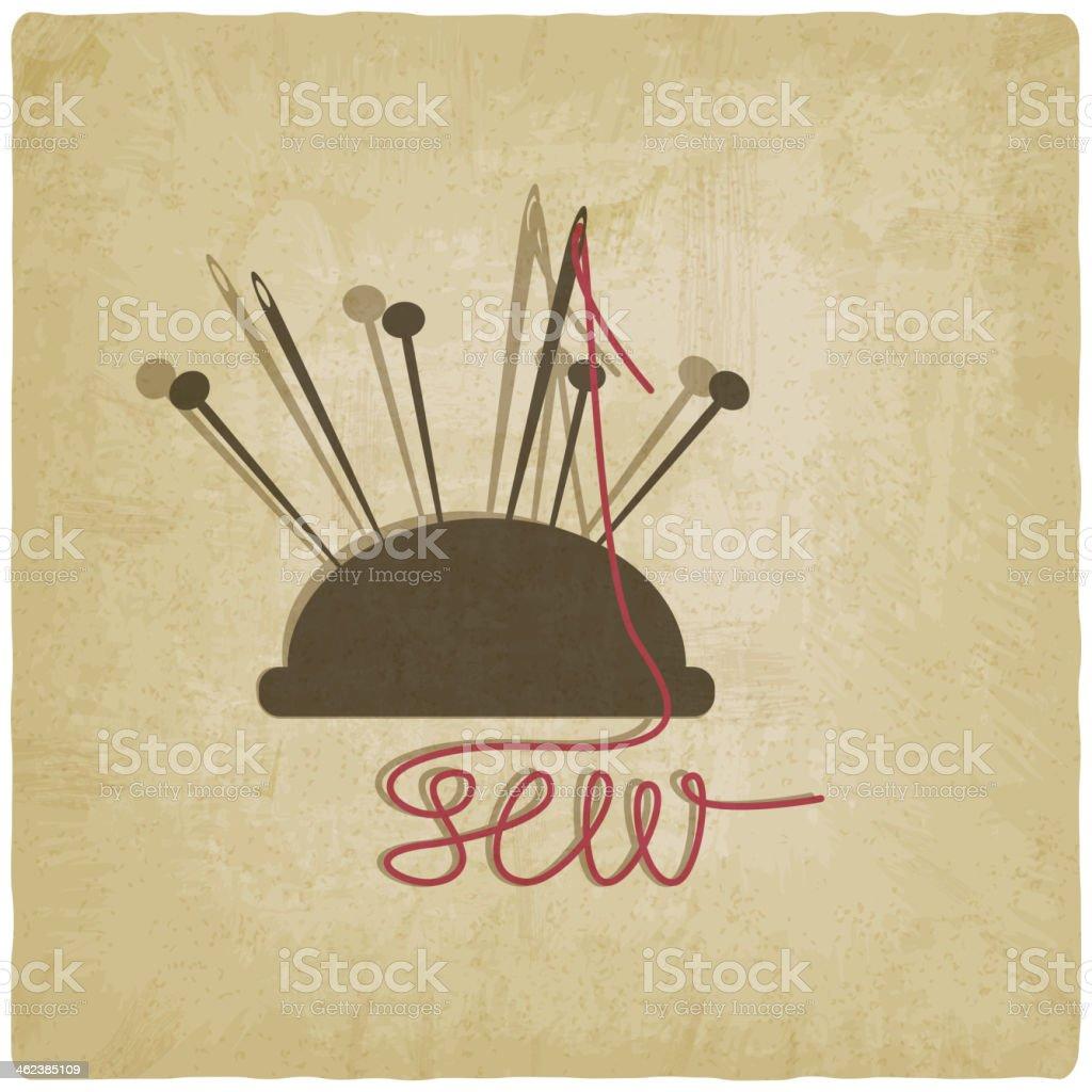 sewing background vector art illustration