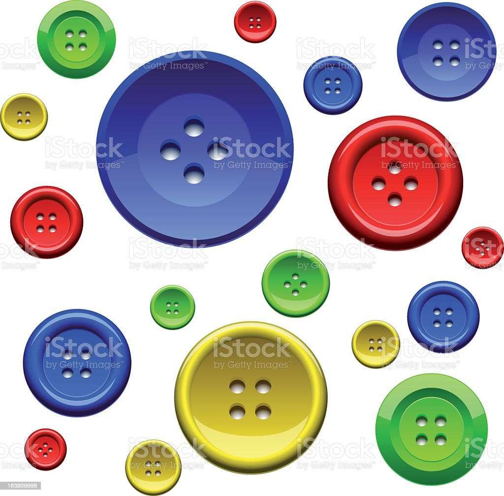 Sewing color buttons royalty-free stock vector art