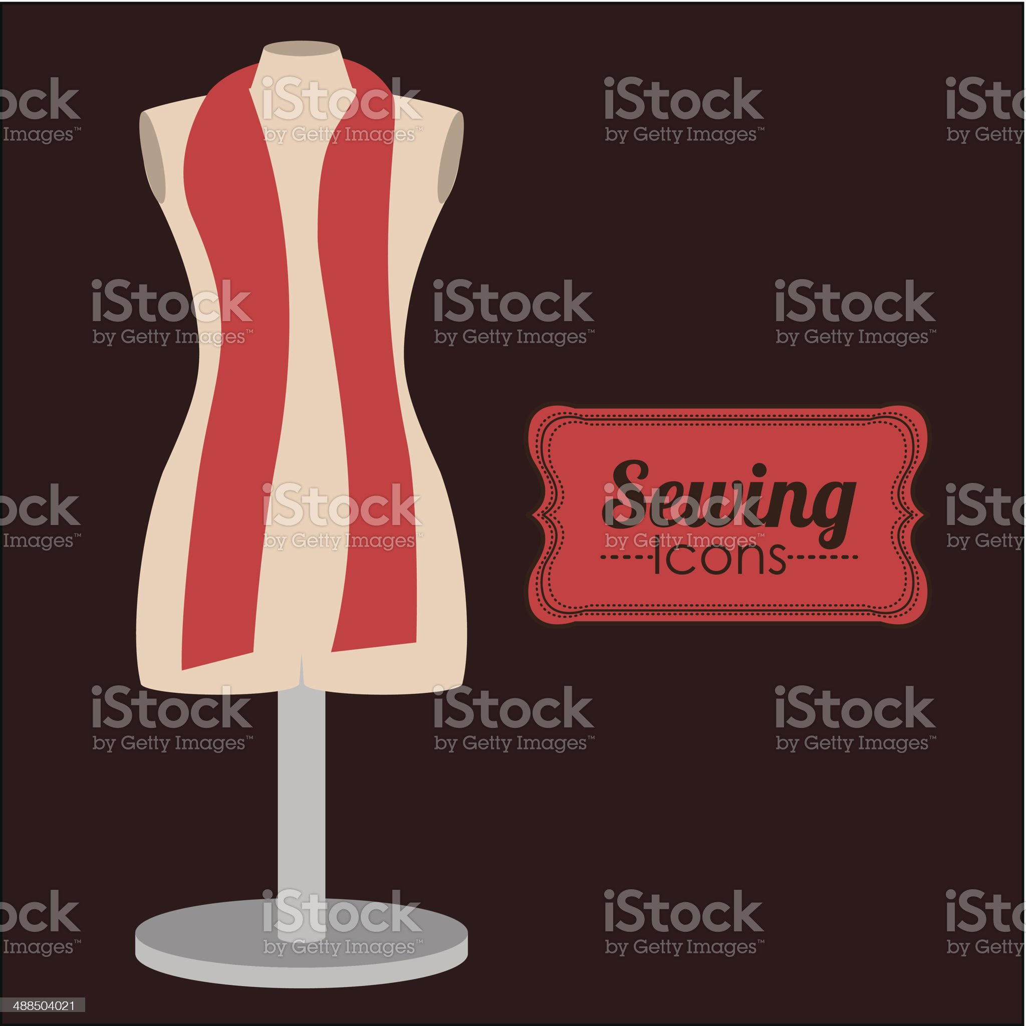 Sewing Design royalty-free stock vector art