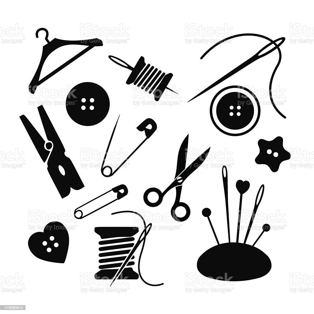 Sewing icon set vector illustration vector art illustration