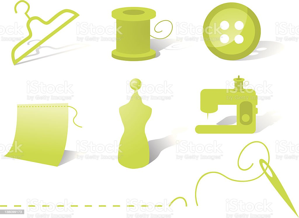 Sewing Icons royalty-free stock vector art