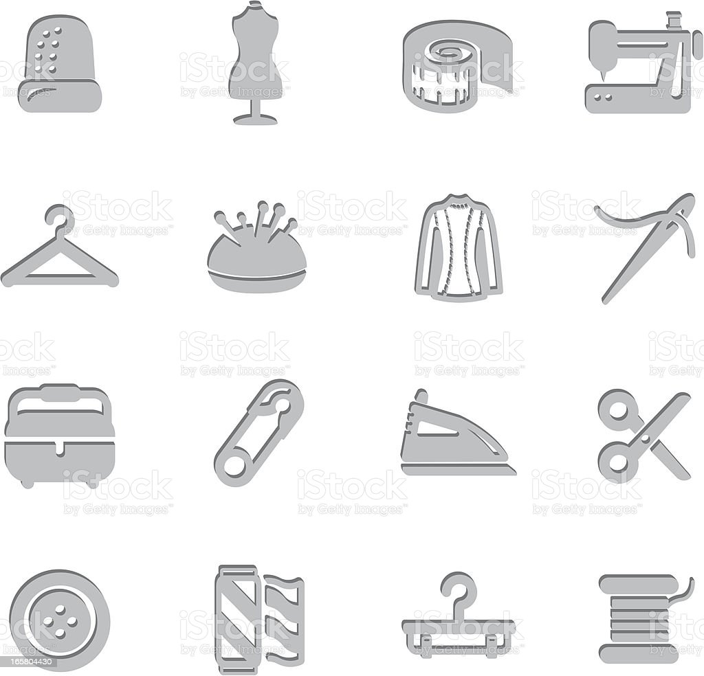 Sewing Imprint Symbols royalty-free stock vector art