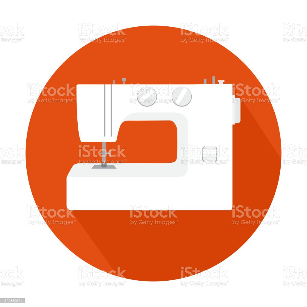 sewing machine icon vector art illustration