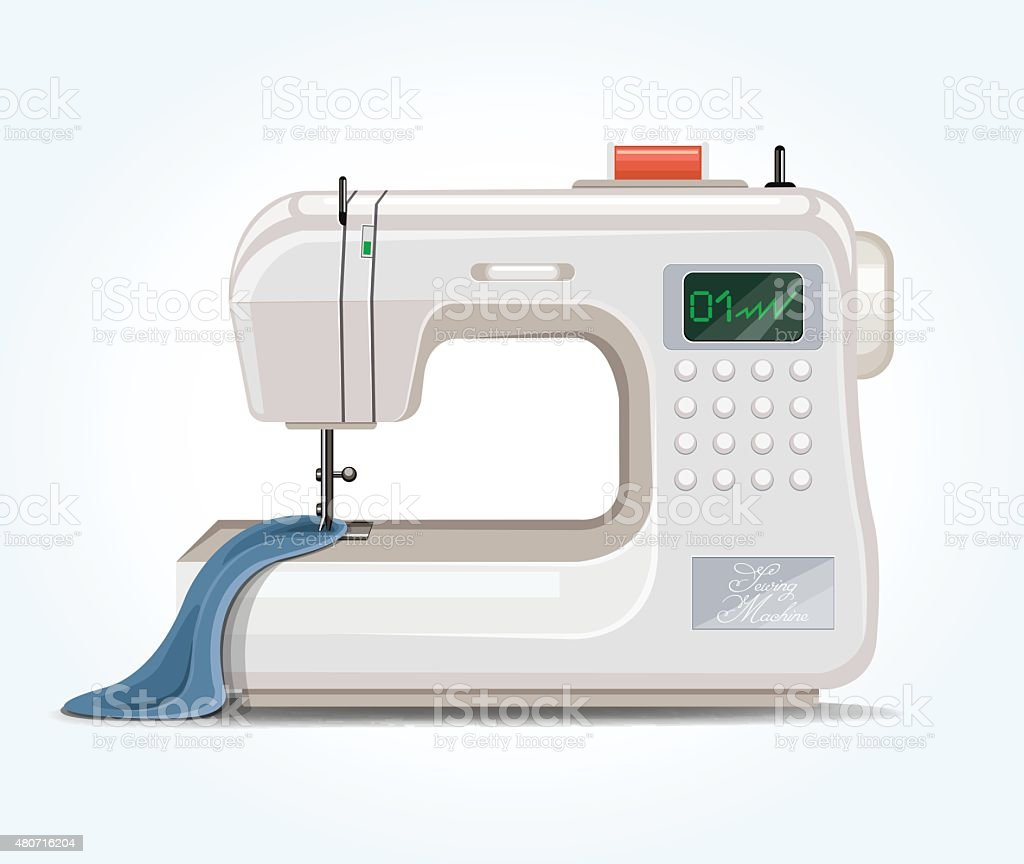 Sewing machine. Vector flat illustration vector art illustration