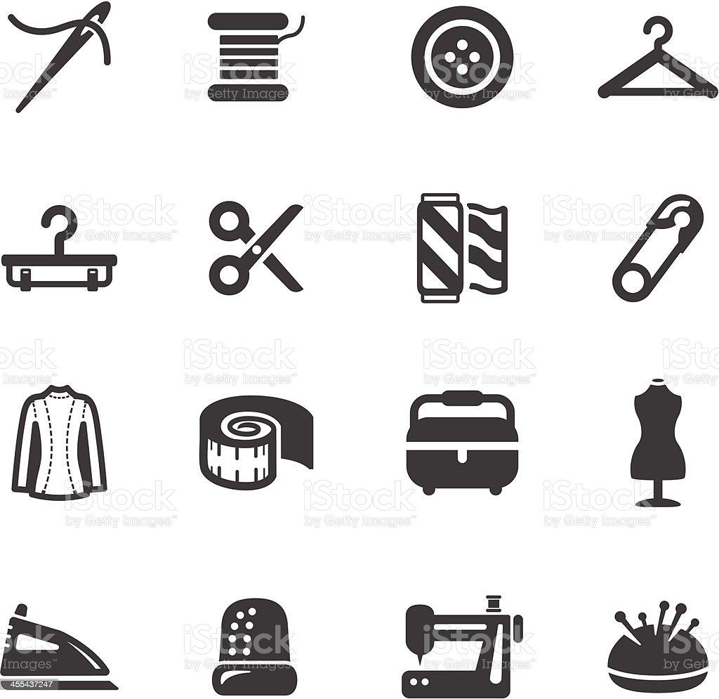 Sewing Symbols vector art illustration