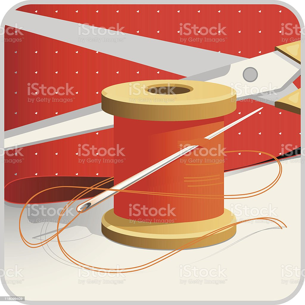 Sewing royalty-free stock vector art