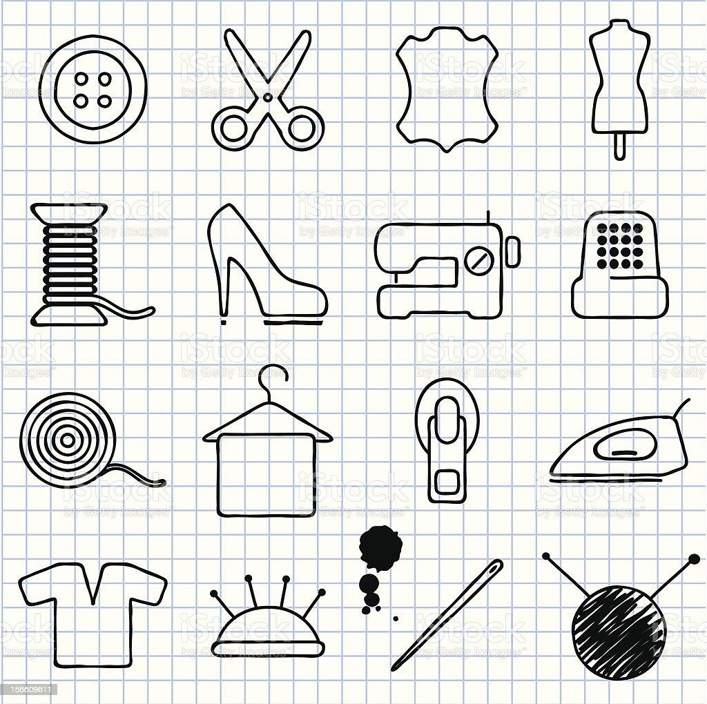 sewing vector art illustration