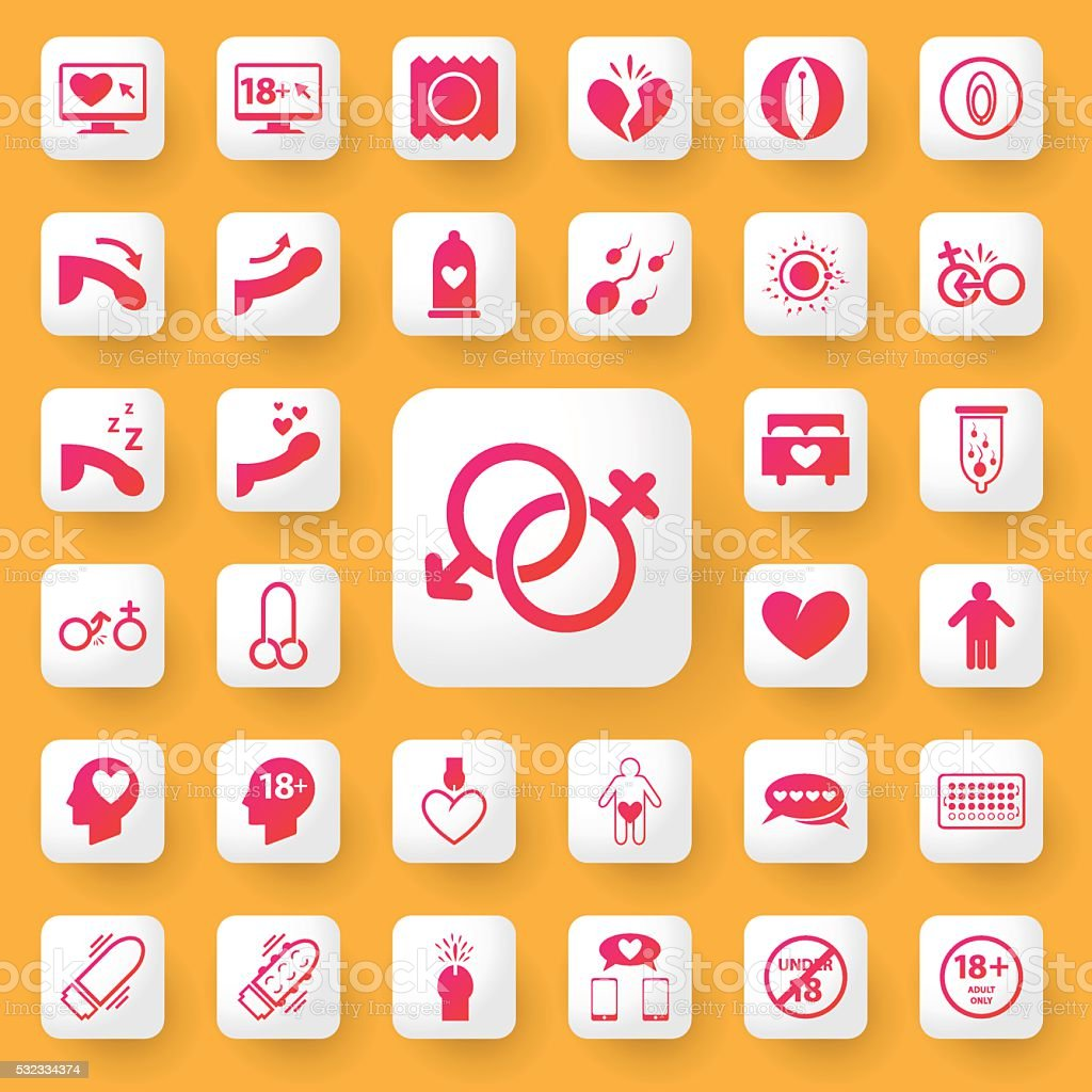 Sex symbol and icon application set. vector illustration. vector art illustration