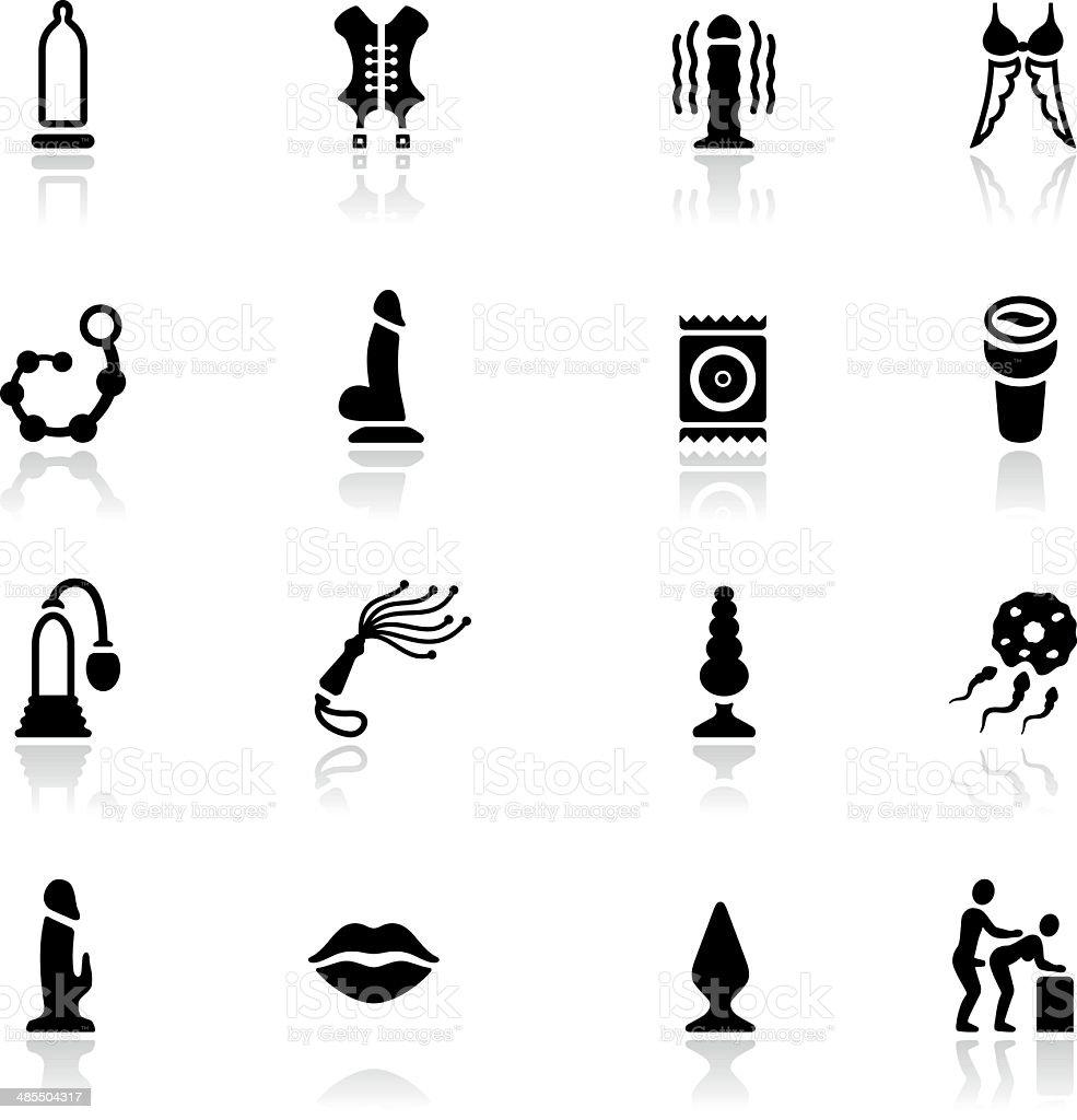 Sex Toy Icon Set vector art illustration