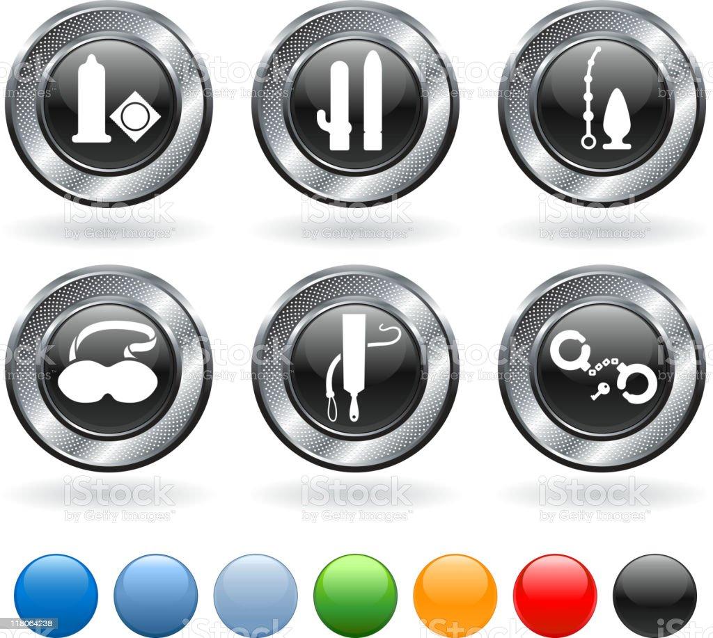 sex toys royalty free vector icon set vector art illustration