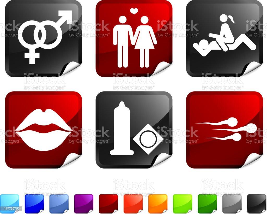 sex vector icon set vector art illustration