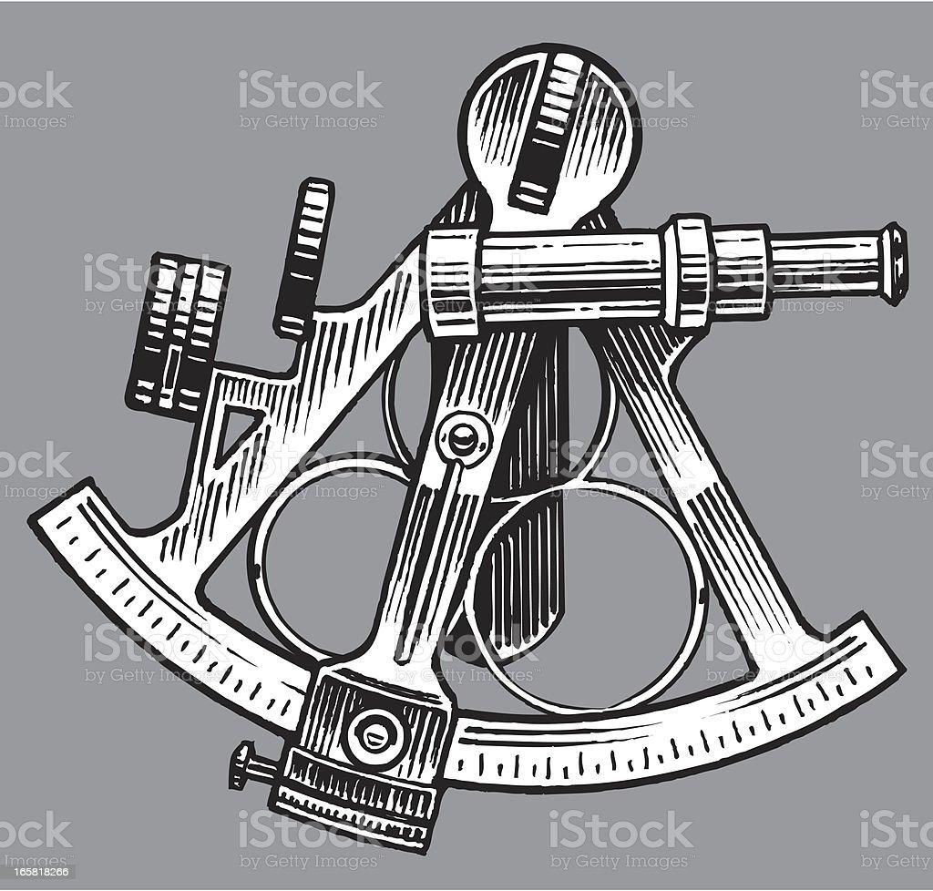 Sextant Nautical Equipment stock vector art 165818266 | iStock