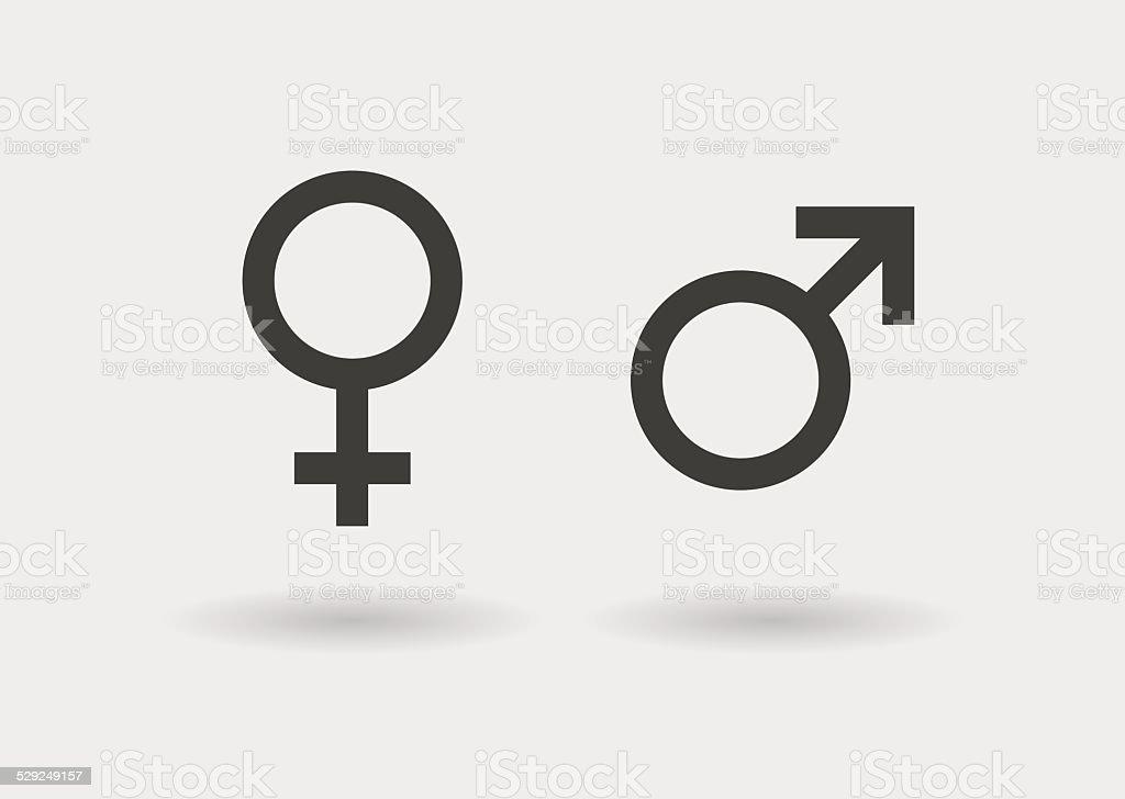 sexual simbols icon set vector art illustration
