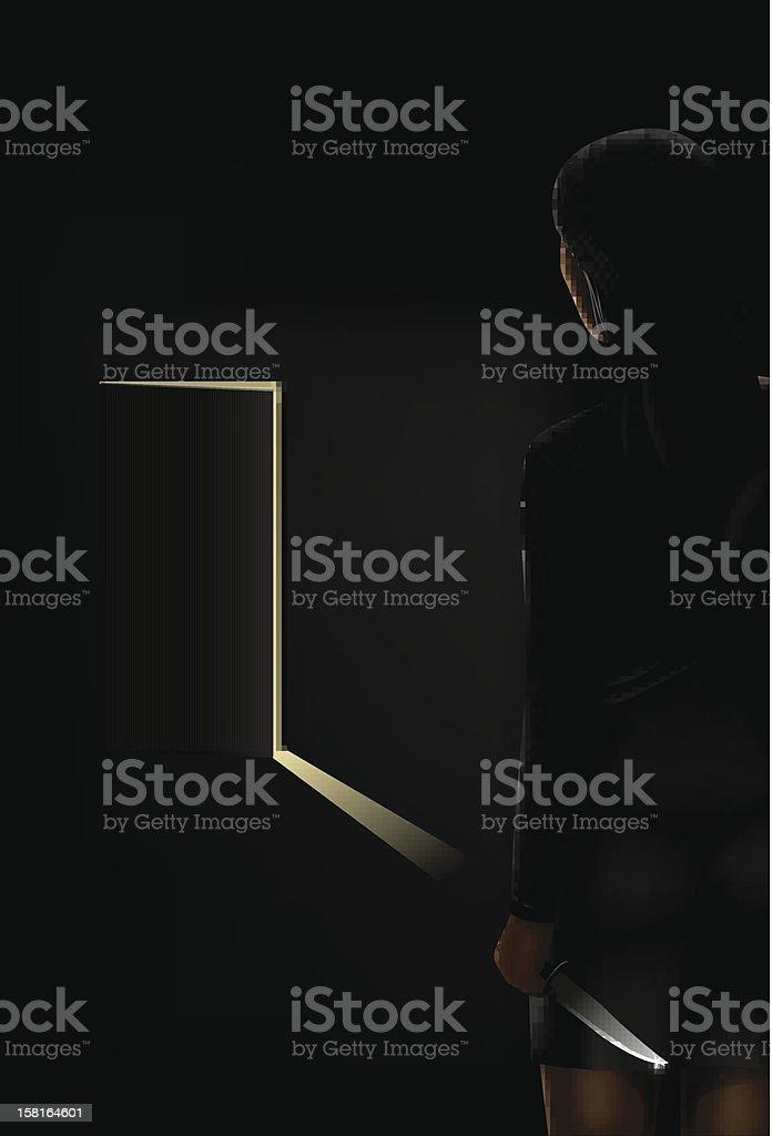 sexy assassin royalty-free stock vector art