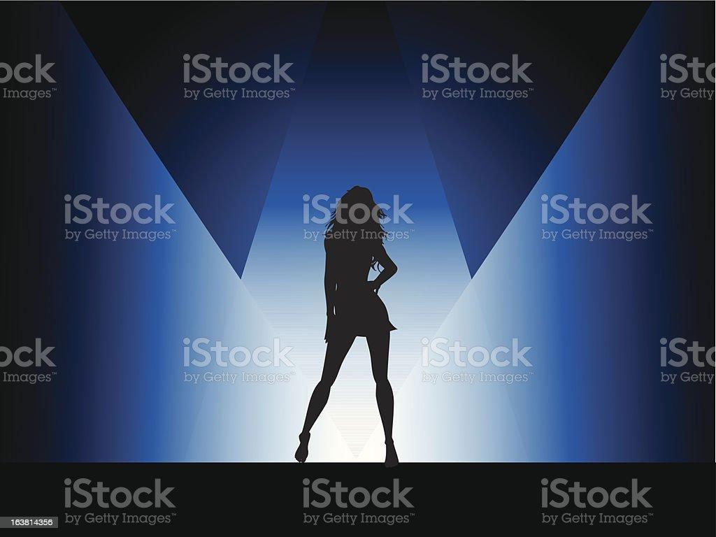 Sexy female vector art illustration