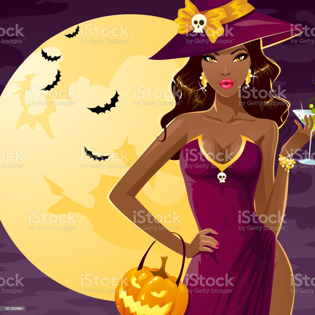 Sexy Halloween witch royalty-free stock vector art