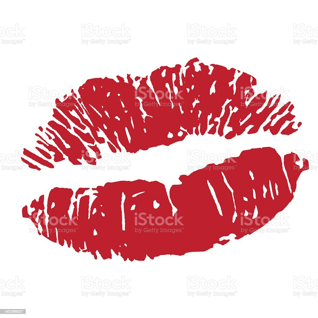 Lipstick Clip Art, Vector Images & Illustrations - iStock Lipstick Kiss Vector