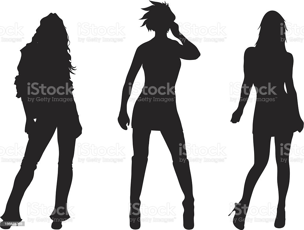 Sexy Lady Silhouettes royalty-free stock vector art