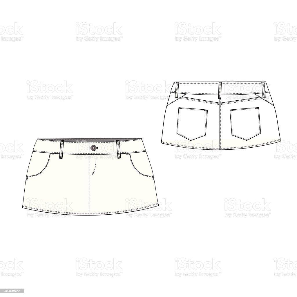 Sexy Mini Skirt vector art illustration