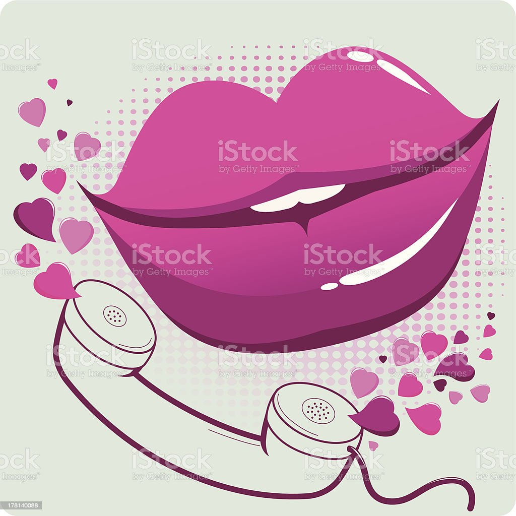 Sexy mouth and telephone royalty-free stock vector art