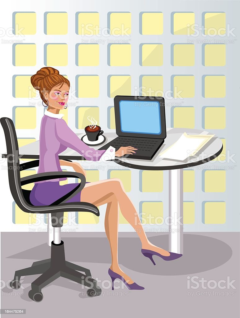 Sexy Office Girl royalty-free stock vector art
