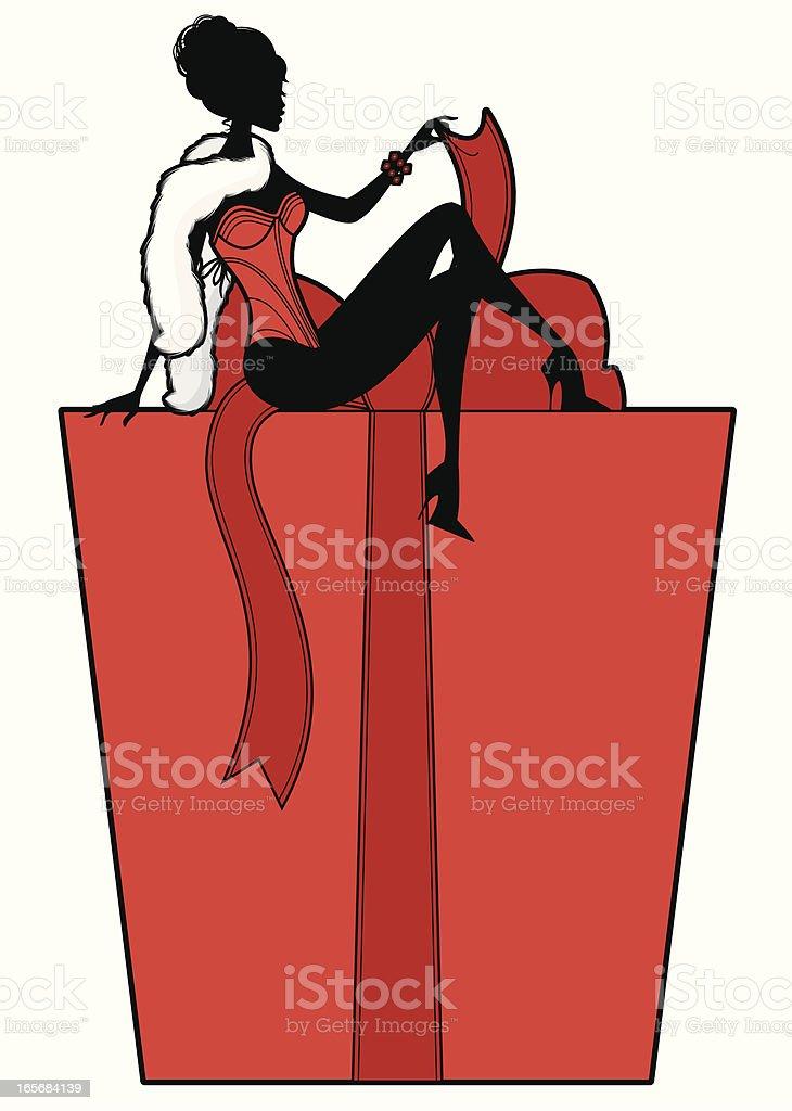 Sexy Present vector art illustration