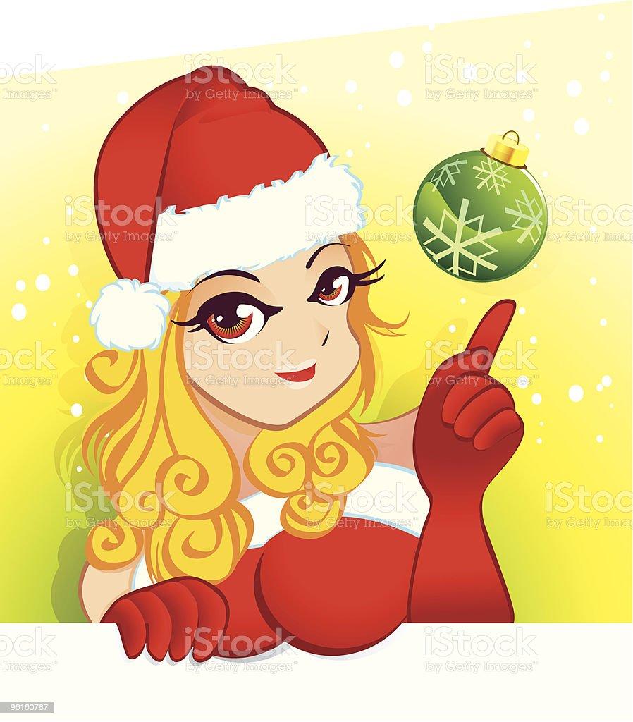 Sexy Santa Girl vector art illustration