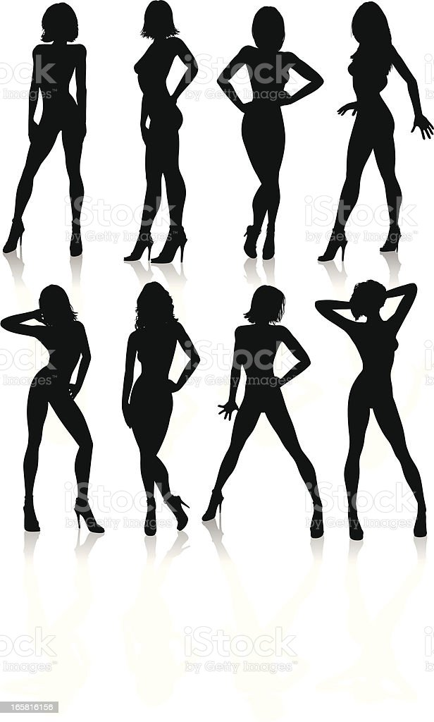 Sexy Silhouettes vector art illustration