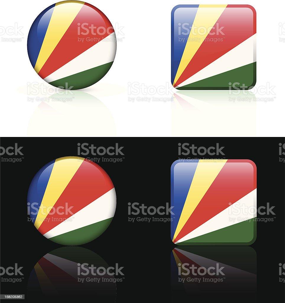 Seychelles Flag Button Set royalty-free stock vector art
