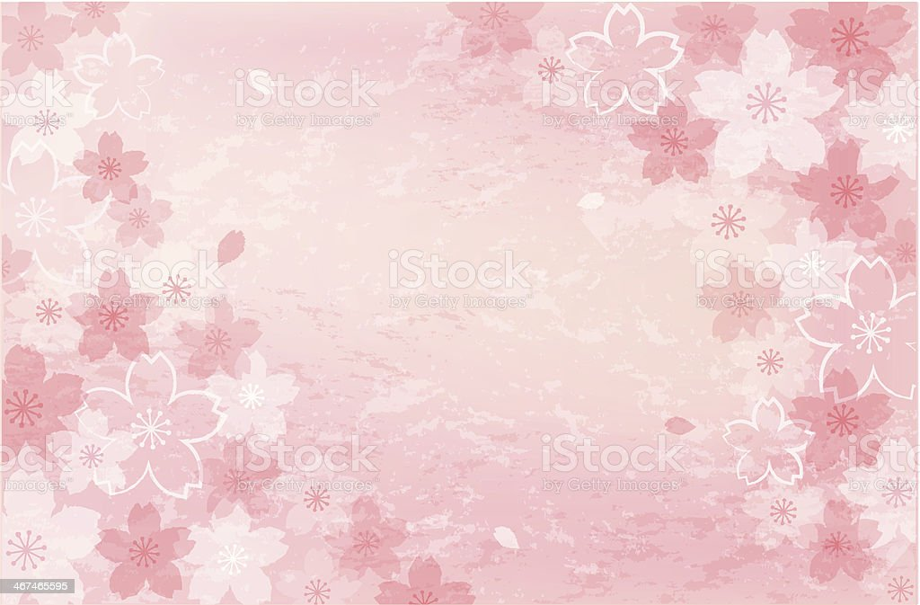 Shabby chic Cherry blossom background vector art illustration
