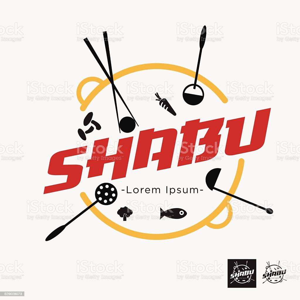shabu letter - vector illustration vector art illustration