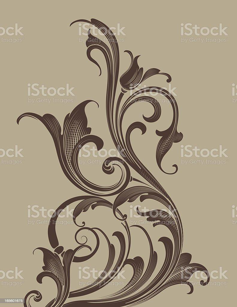 Shaded Arabesque Bottom royalty-free stock vector art
