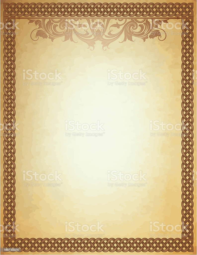 Shaded Celtic Parchment royalty-free stock vector art