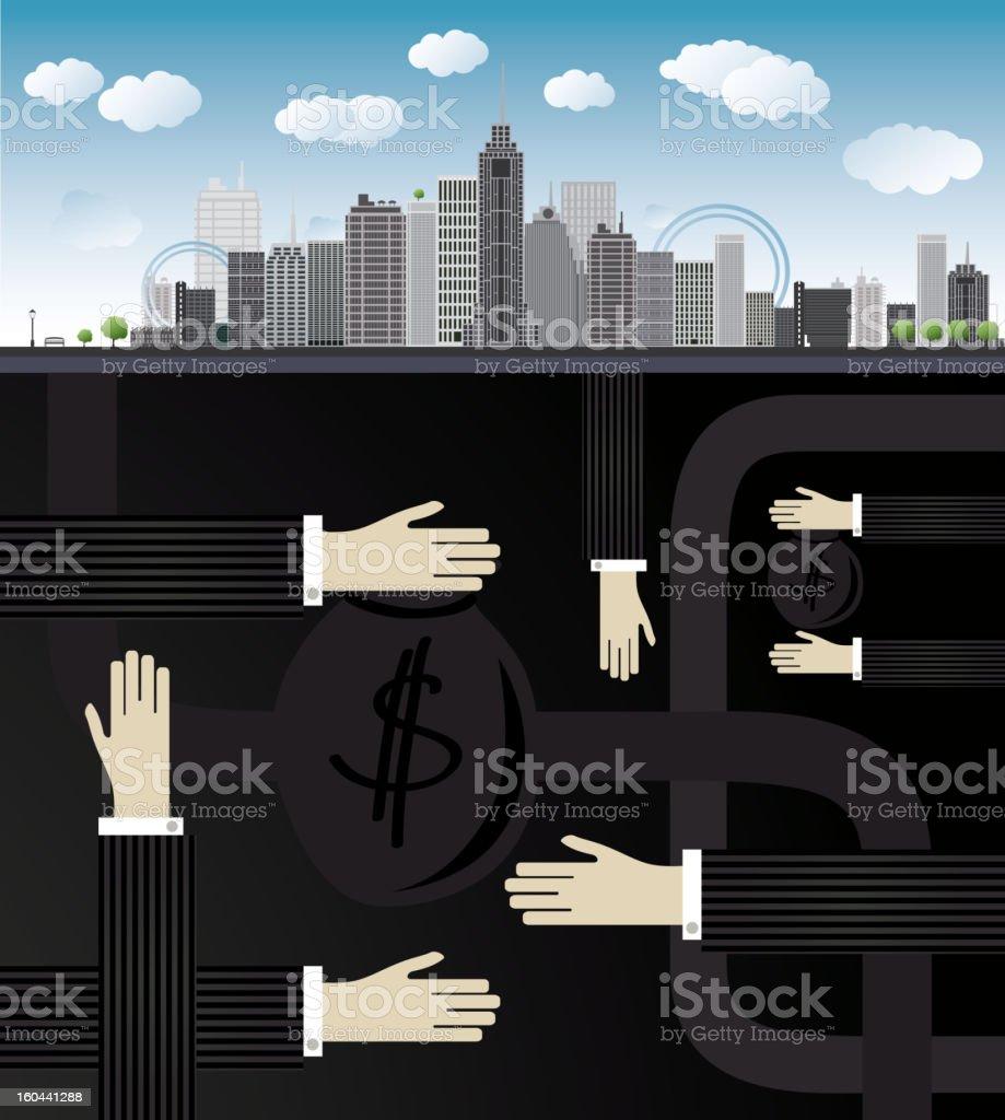 shadow economy illustration royalty-free stock vector art
