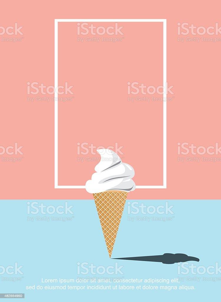 Shadow ice cream vector art illustration