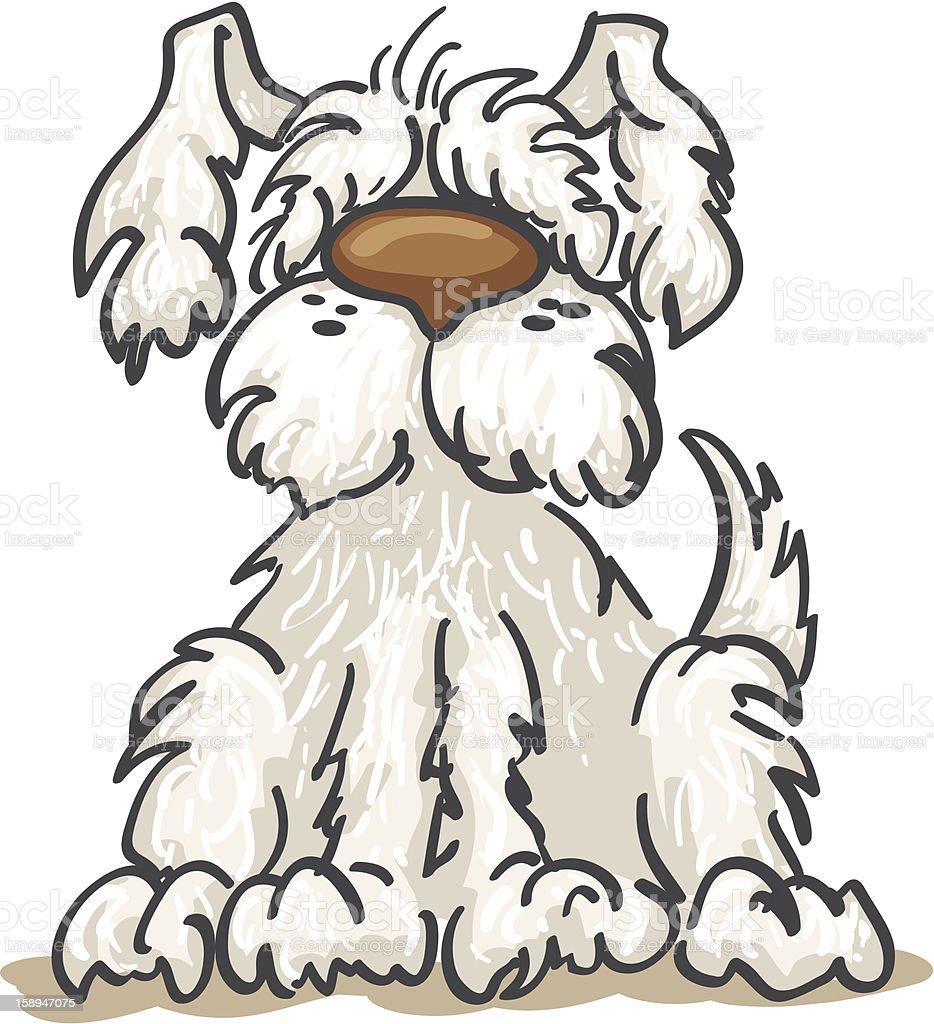 Shaggy Dog vector art illustration