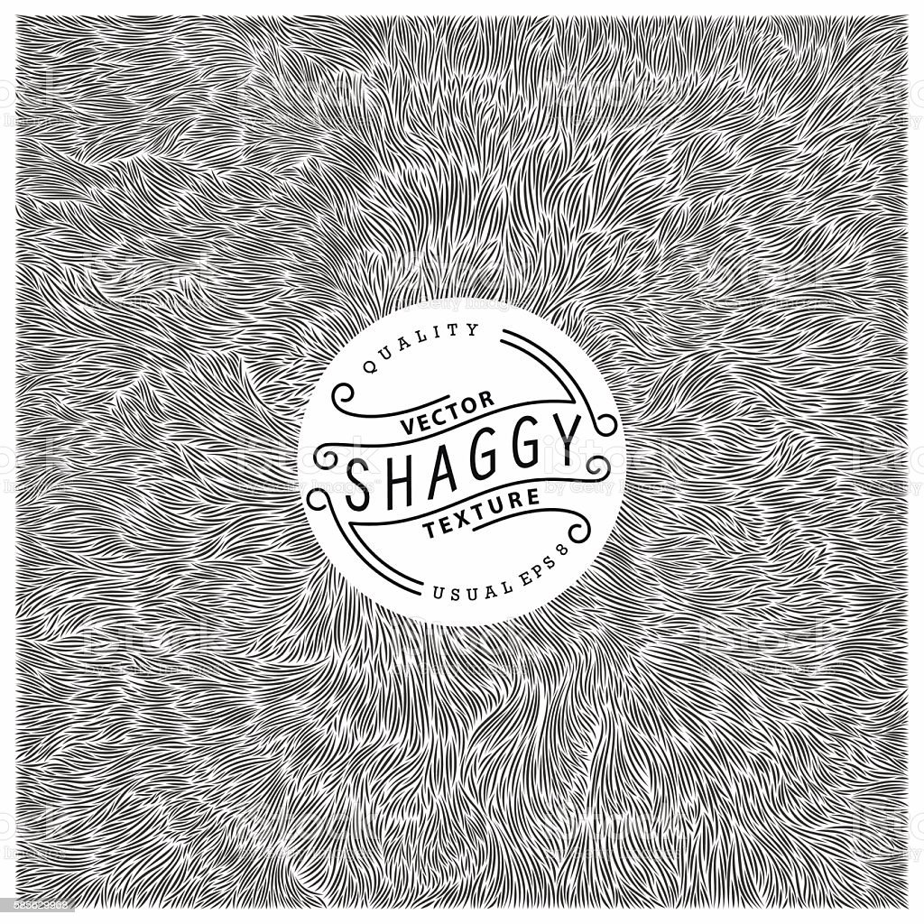 Shaggy texture vector art illustration
