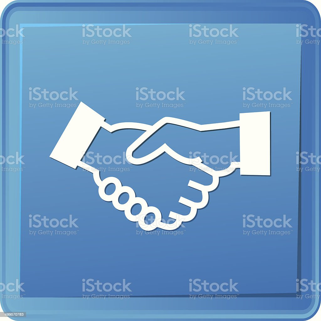 Shake hand button,vector royalty-free stock vector art