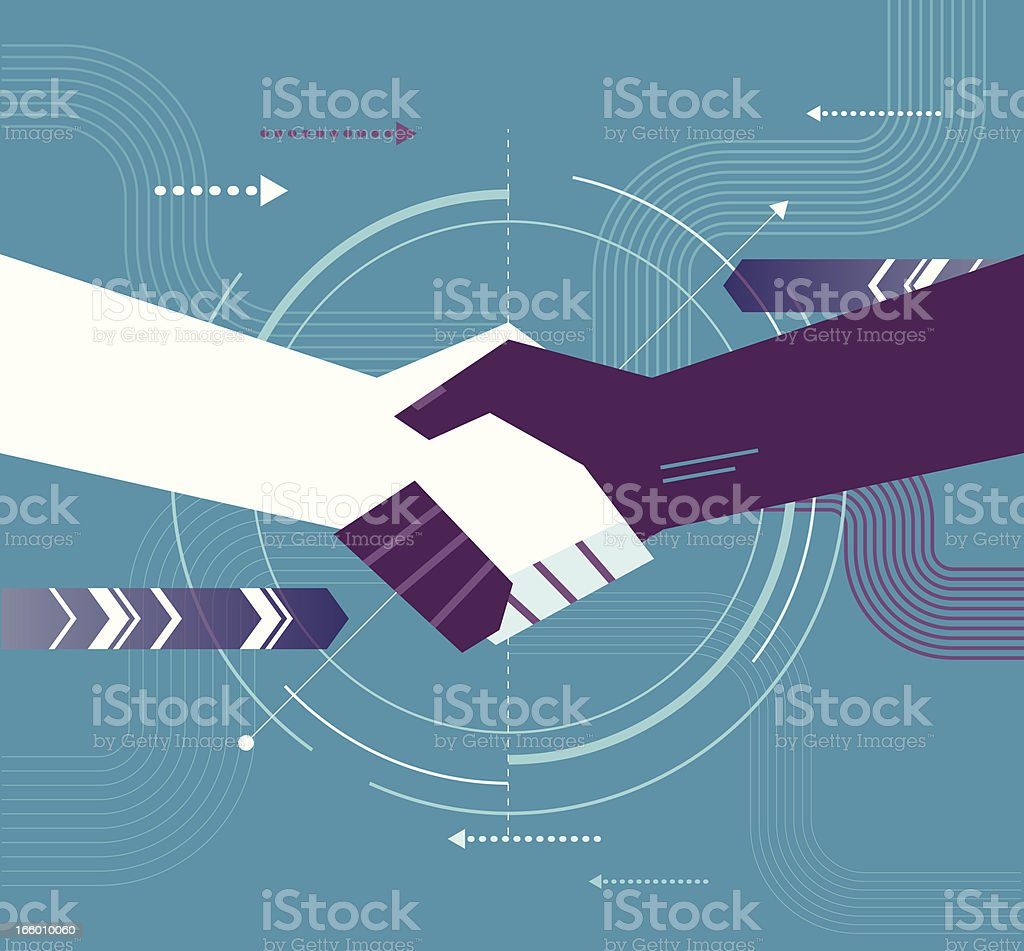Shake Hand royalty-free stock vector art