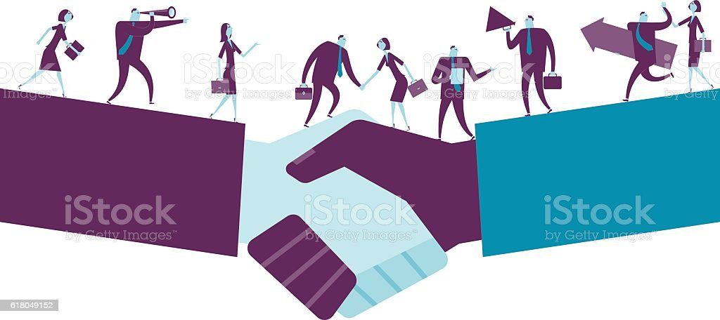 Shake Hand vector art illustration