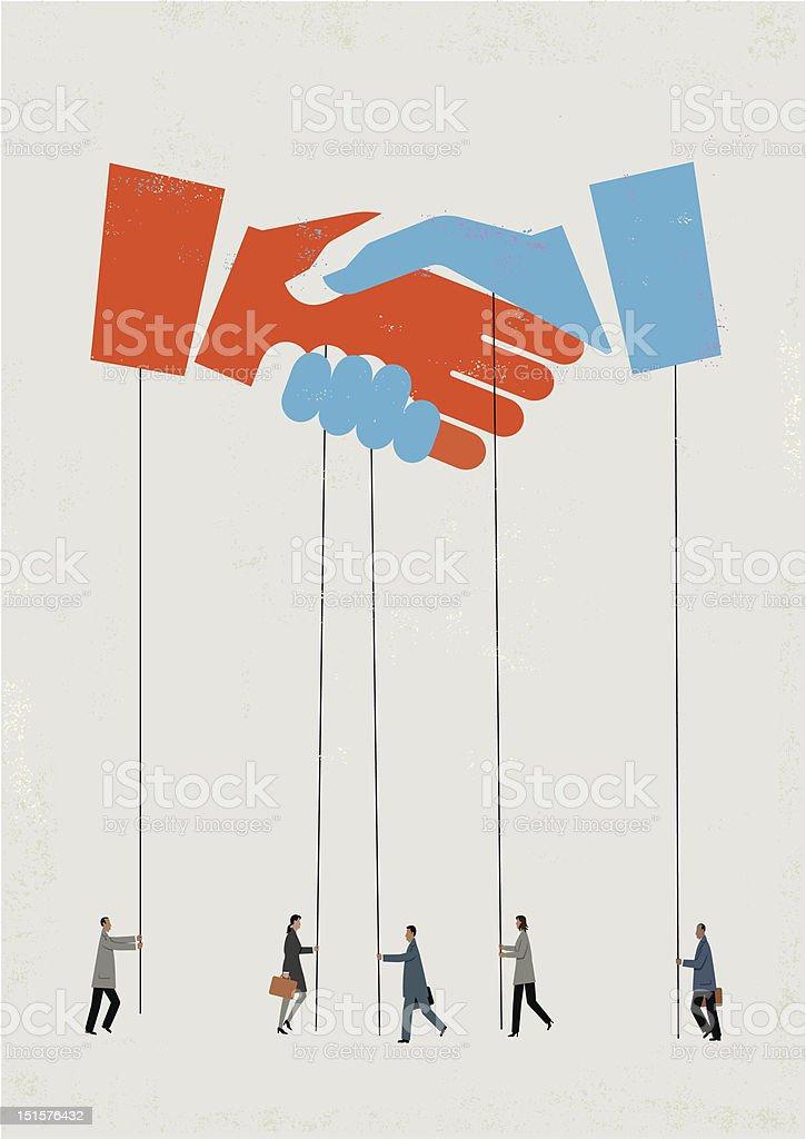 Shaking Hands royalty-free stock vector art
