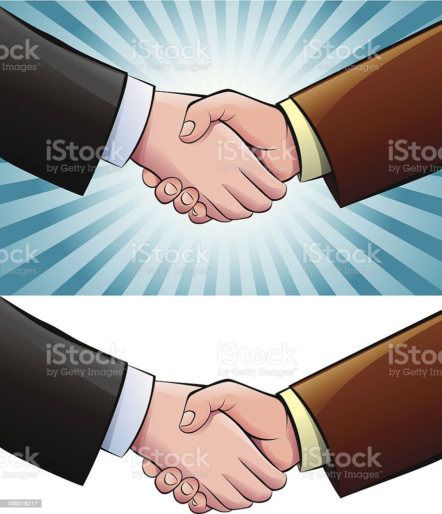 Shaking Hands royalty-free stock vector art